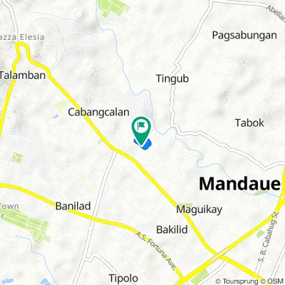 Relaxed route in Mandaue City