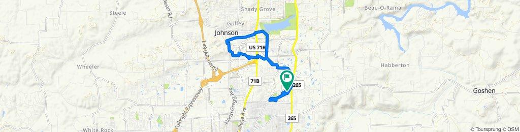 Steady ride in Fayetteville