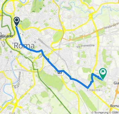 Da Viale Giorgio Washington 1, Roma a Via Settimio Di Vico 4–12, Torre Spaccata