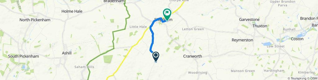 Carbrooke Lane, Shipdham to Pound Green Lane, Shipdham