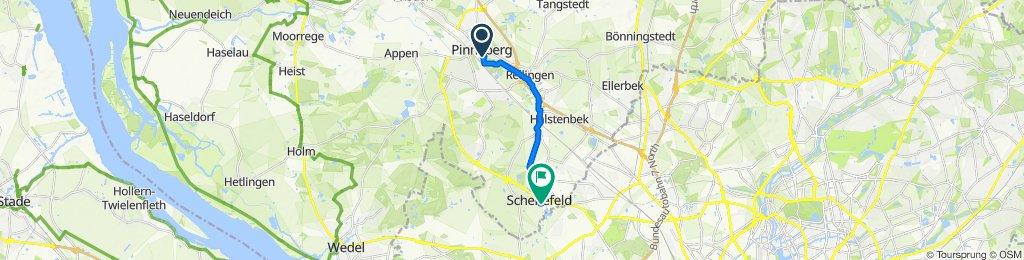 Restful route in Schenefeld