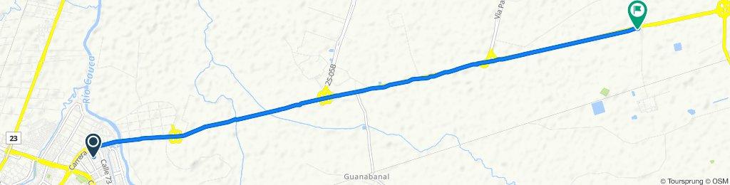 De Carrera 1a 3 72-42, Cali a Vía Palmira - Cali