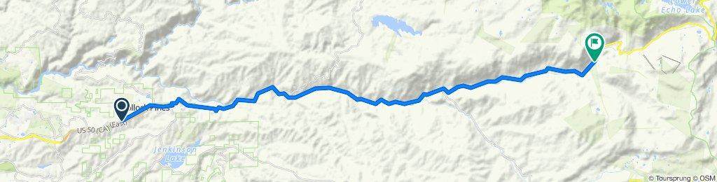 5649 Pony Express Trail, Pollock Pines to 17482–17494 El Dorado Fwy, Kyburz