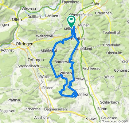 Kölliken-Reitnau-Lätte-Gigger 42km