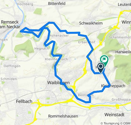 Korb-Remseck-Waiblingen-Kleinheppach-Korb