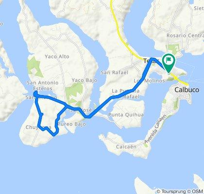 Moderate route in Calbuco