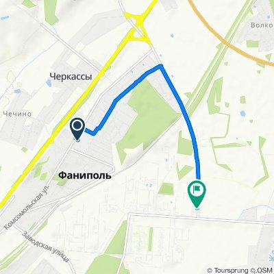 От улица Зелёная 2, Фаниполь до H8364, Грычына