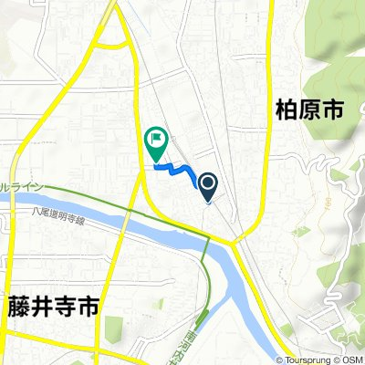 2-5, Kamiichi 2-Chōme, Kashiwara-Shi to 3-34, Taisho 1-Chōme, Kashiwara-Shi