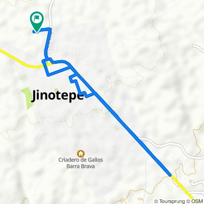 Relaxed route in Jinotepe
