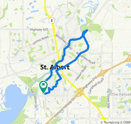 Grandin Woods Estates 34, St. Albert to Grandin Woods Estates 2, St. Albert