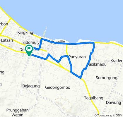 Jalan Mojopahit 22, Kecamatan Tuban to Gang Mekar 27, Kecamatan Tuban