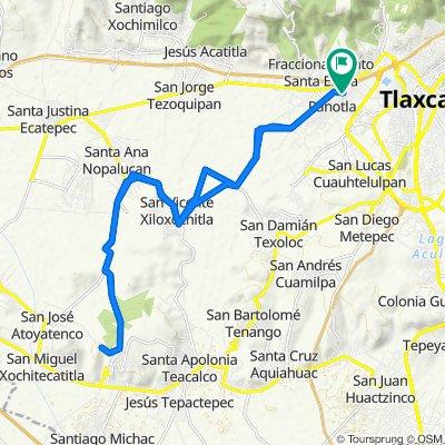 De Avenida Zahuapan 136, Panotla a Avenida Zahuapan 136, Panotla