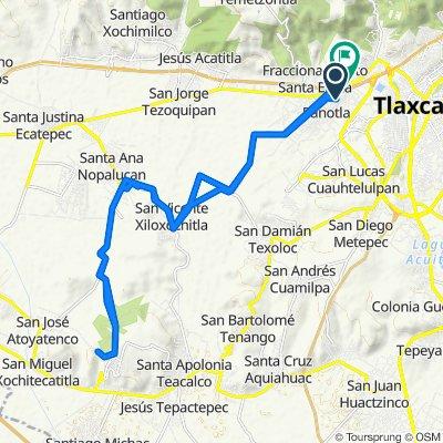 De Avenida Zahuapan 136, Panotla a Camino Real a San Martin 23, Totolac