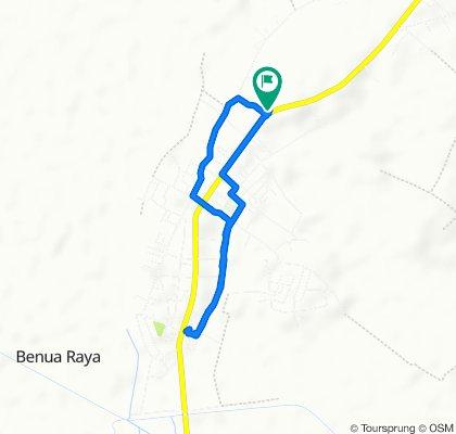 Route to Jalan Ahmad Yani, Kecamatan Bati Bati