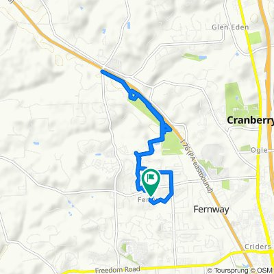Moderate route in Cranberry Township