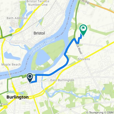 2–22 E Broad St, Burlington to 309 Dultys Ln, Burlington