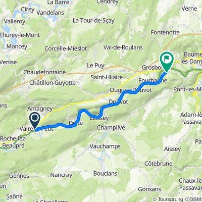 De 10 Rue de l'École, Vaire-le-Petit à 3 Route des Moulinots, Esnans