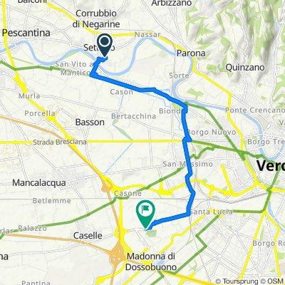 Da Via Torricelli 5, Settimo a Via Sommacampagna 61, Verona