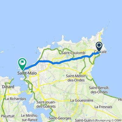 De Rue du Maréchal-Juin 8D, Cancale à Rue Guillaume le Gouverneur 6, Saint-Malo