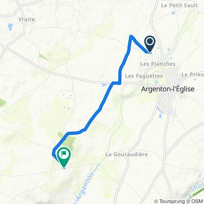 Relaxed route in Bouillé-Saint-Paul