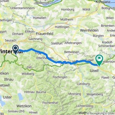 Seenerstrasse 185, Winterthur nach Sandackerstrasse 5, Oberbüren