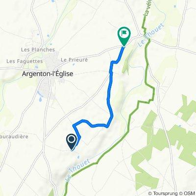 Restful route in Argenton-l'Église