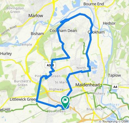 Croft Cottage, Cox Green Lane, Maidenhead to Long Cottage, Cox Green Lane, Maidenhead