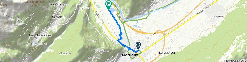 Steady ride in Martigny