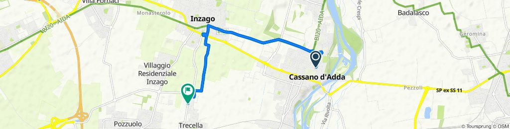 Da Viale Carlo d'Adda 4–4B, Cassano d'Adda a Via Buonarroti 50, Trecella