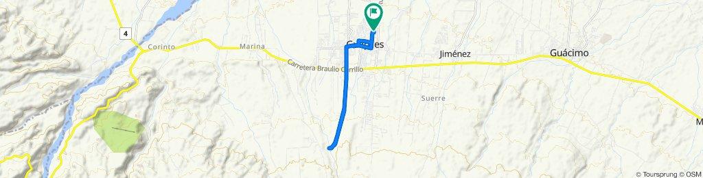 Restful route in Guápiles