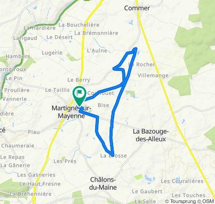 High-speed route in Martigné-sur-Mayenne