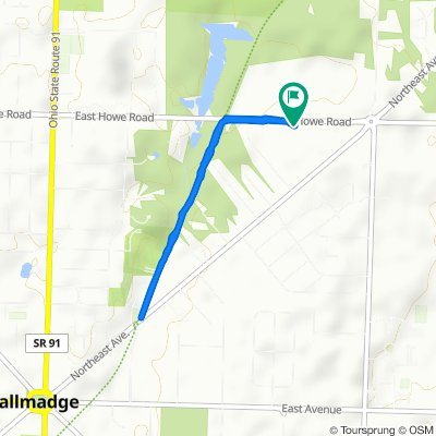 528 E Howe Rd, Tallmadge to 518 E Howe Rd, Tallmadge