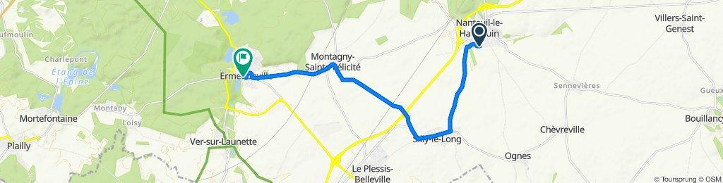 Restful route in Nanteuil-le-Haudouin