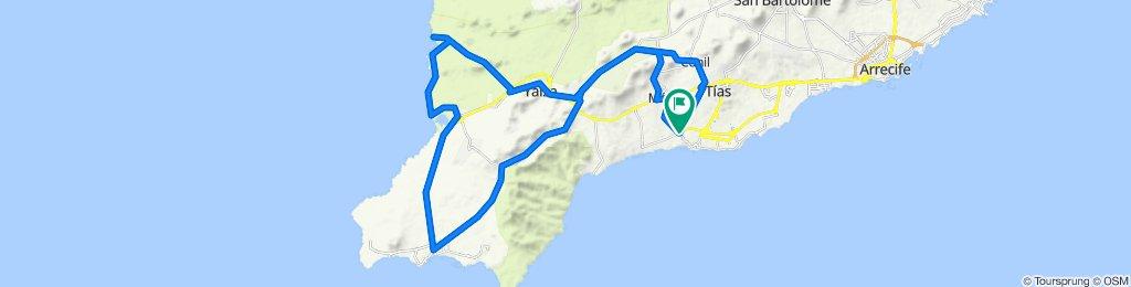 Lanzarote Sud: 70km. 1000d+