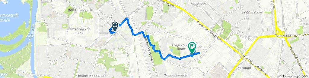 От улица Народного Ополчения, Москва до Метро «ЦСКА», Москва