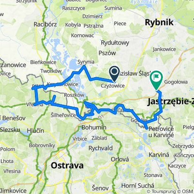 Restful route in Wodzisław Śląski