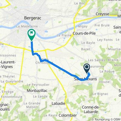 De 8A Le Binassat, Saint-Nexans à Allée René Dumont, Bergerac