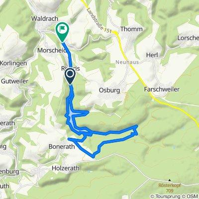 Moderate route in Waldrach