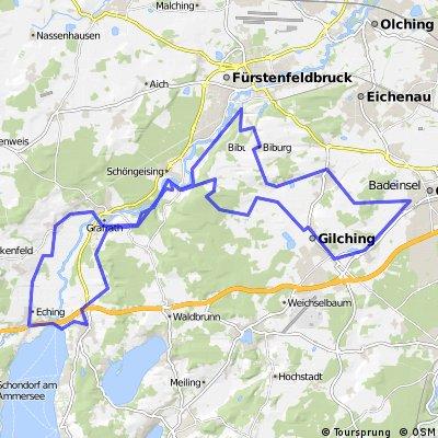 Germering - Eching - Keltengräber - Germering