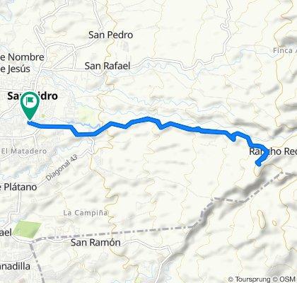De Calle 155, San José a Calle 155, San José