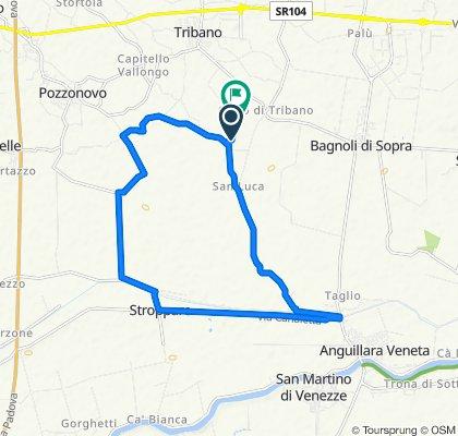 Da Via Bragadine 37, Tribano a Via Talpe 12, Tribano
