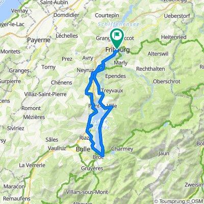 Tour du lac de Gruyères (Au départ de Fribourg)