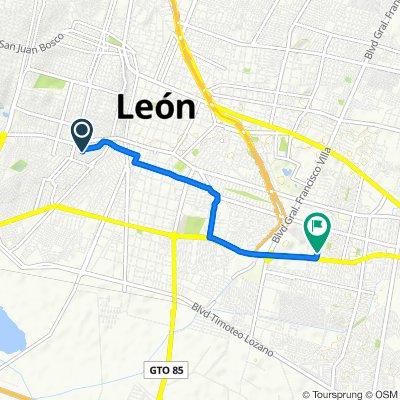 De Ana María 517, León a Avenida Océano Atlántico 504, León