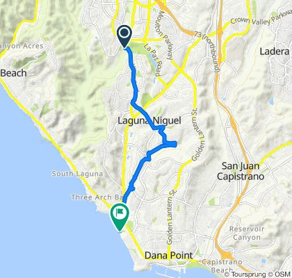 Route from 28303 Alicia Pkwy, Laguna Niguel