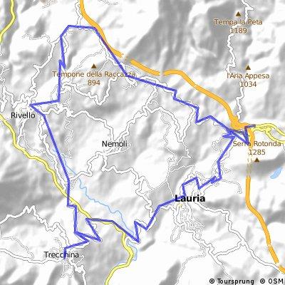 Trecchina - Lago Sirino - Lauria - Trecchina