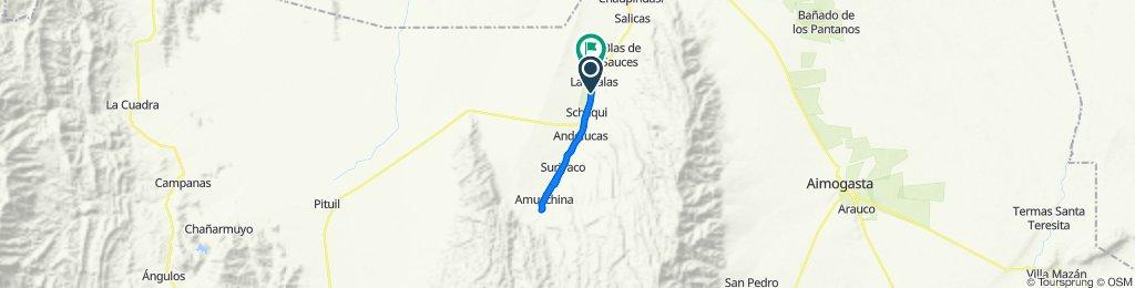 De La Rioja, Cuipán a Ruta Nacional 40