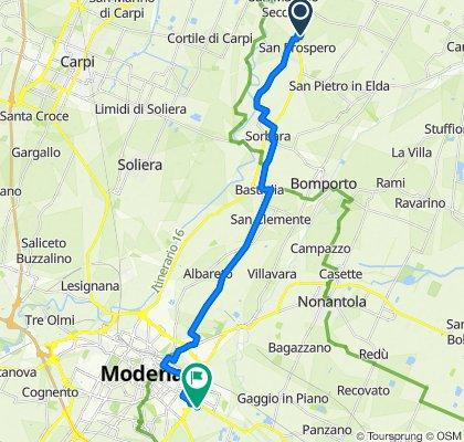 Da Via Canaletto, San Prospero a Via Giorgio Perlasca 70, Modena