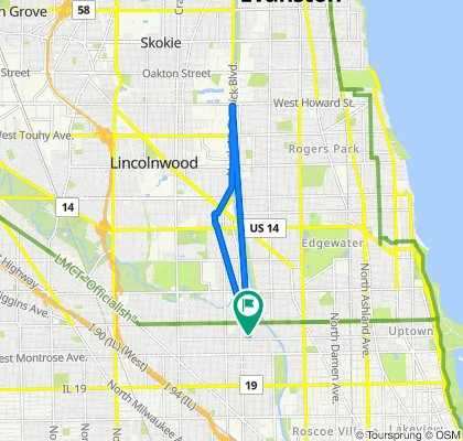 North Albany Avenue 4642, Chicago to North Albany Avenue 4642, Chicago