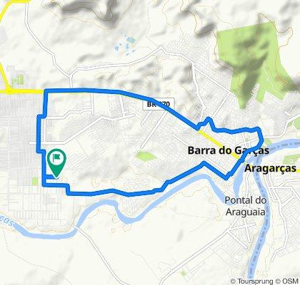 De Rua Nossa Senhora Aparecida, 1–73, Barra do Garças a Rua Nossa Senhora Aparecida, 2–74, Barra do Garças