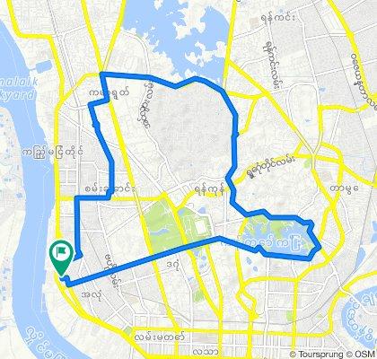 Slow ride in Yangon